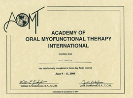 ACADEMY OF ORAL MYOFUNCTIONAL THERAPY INTERNATIONAL